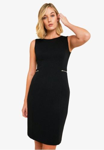 FORCAST black Joslyn Textured Pencil Dress 09D13AA6C42CD8GS_1