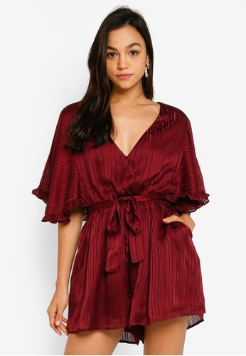 Mink Pink red In The Moment Playsuit 16671AA70C473AGS_1