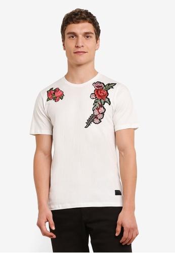 Flesh IMP white Flower Garden Patches T-Shirt FL064AA0S5TTMY_1