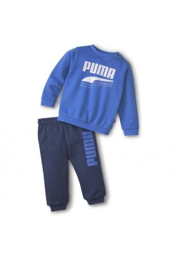 PUMA blue Minicats Rebel Babies' Sweat Suit 4FC02KA69880ABGS_1