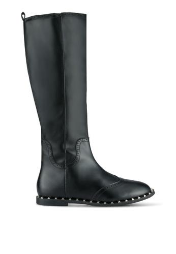 LOST INK black Teresa Stud Rand Boots LO238SH0SCMMMY_1