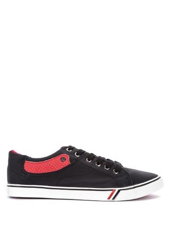 H2Ocean black Cleon Lace up Sneakers 373EASH0BB6DE7GS_1