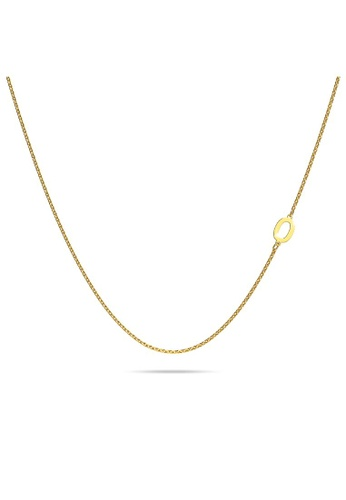 Bullion Gold gold BULLION GOLD Bold Alphabet Letter Initial Charm Necklace in Gold Tone - O D6C26ACCE85D74GS_1
