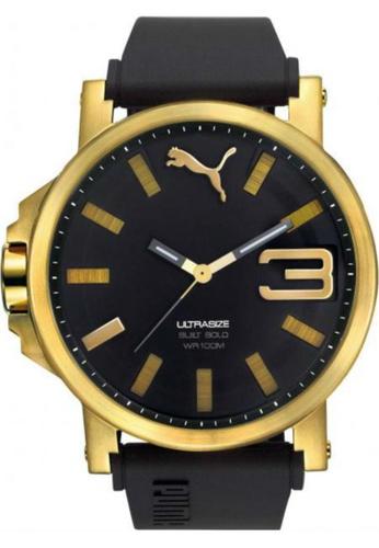 Puma Watches black PU103911012 Ultrasize 50 Bold Gold Black Men Watch PU549AC0SHUGMY_1