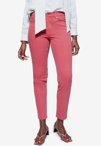 Violeta by MANGO orange Plus Size Slim-Fit Julia Jeans FD65AAAC94D1DFGS_1