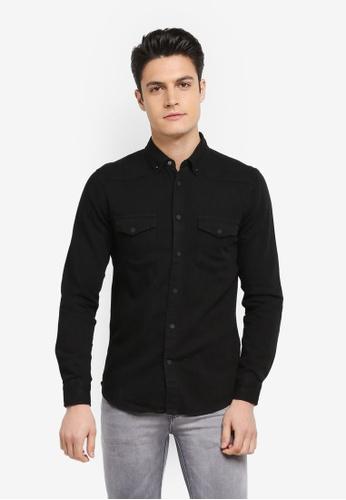 Electro Denim Lab black Denim Shirt FBEA2AA9778F9BGS_1
