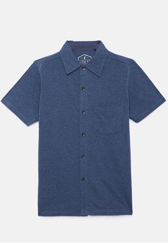 ZALZA blue Mike 100% Organic Cotton Boys Full Open Short Sleeve Tee - Lake Blue D0B92KAB768F5DGS_1