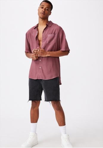 Cotton On red Cuban Short Sleeve Shirt D6A18AA321D62BGS_1