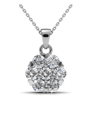 Her Jewellery silver Swarovski® Crystals - Brilliance Pendant (18K White Gold Plated) Her Jewellery HE581AC0R9ULMY_1