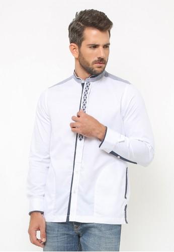 LGS white LGS - Baju Koko - Lengan Panjang - Bordir - Variasi Warna - Putih