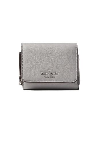 Kate Spade grey Kate Spade Jackson Small Trifold Continental Wallet Nimbus grey WLRU6328 7CCA1AC93DCEB0GS_1