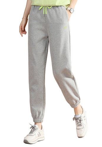 A-IN GIRLS grey Elastic Waist Casual Trousers AA95AAA25655A3GS_1