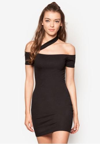 單側帶露肩緊身洋裝、 服飾、 簡約優雅潮流MISSGUIDED單側帶露肩緊身洋裝最新折價