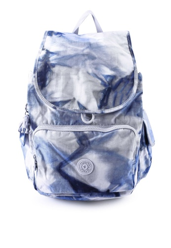 Kipling white and blue City Pack Tie Dye Blue Backpack 52F4DAC7F6150AGS_1