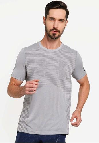 Under Armour 灰色 Seamless Logo Short Sleeve Tee 8F897AA3CB3F45GS_1