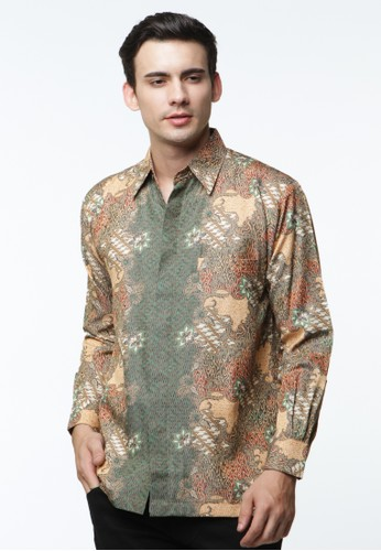 Waskito Kemeja Batik Semi Sutera - KB 17684 - Brown
