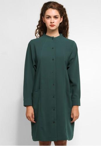 Wastu green IMPERIAL DRESS 43085AA8190D5EGS_1
