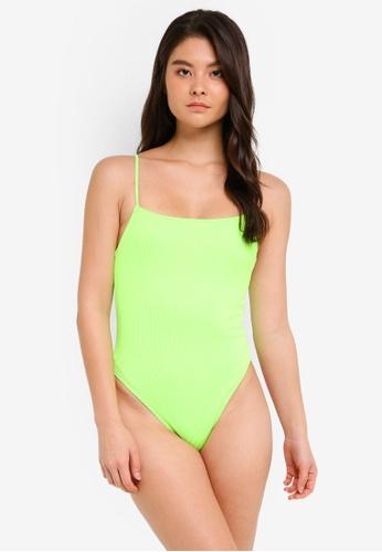 TOPSHOP multi Straight Neck Swimsuit 058D7US3B95DC3GS_1