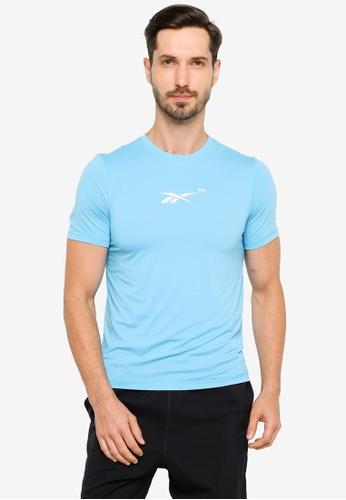 Reebok 藍色 TechStyle 慢跑Activchill T恤 3C6A4AAA2500BEGS_1