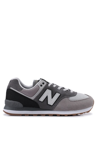 New Balance 灰色 574 Lifestyle Shoes 57211SHEDCD553GS_1