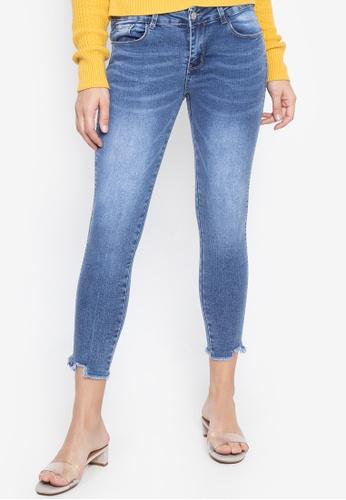 Balaynor blue Cropped Skinny Slight Acid Wash Jeans FD47BAA69C9A83GS_1