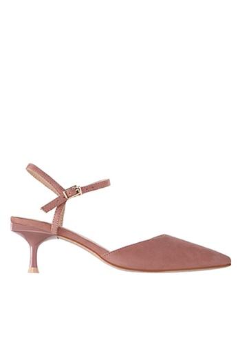 Twenty Eight Shoes 粉紅色 繞踝帶幼踭鞋198-30 1EC3DSH1059EEFGS_1