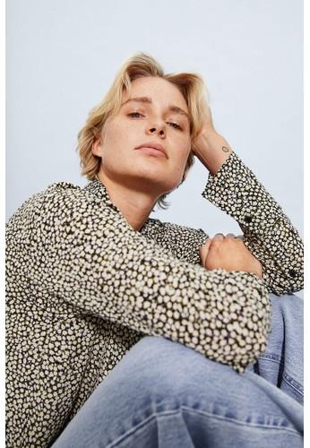 H&M black Long blouse F2EF1AA0164D24GS_1