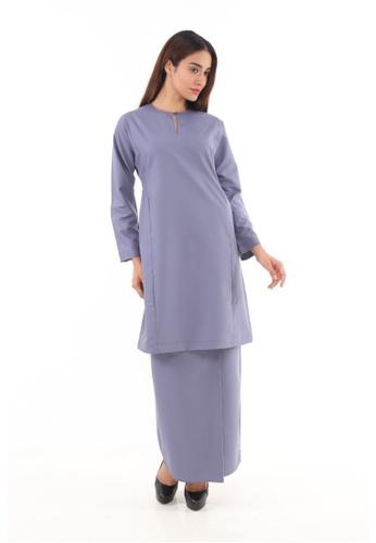 Amar Amran black and grey Baju Kurung Pahang Qirana 4AF9EAA1557164GS_1