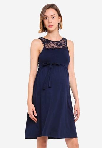 076e29cbe4a14 Mama.licious navy Maternity Laila Jersey Above Knee Dress 8349AAAAC73447GS_1