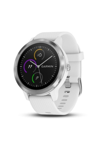 Garmin white vívoactive® 3 White with Stainless 5F81AAC9EA881BGS_1