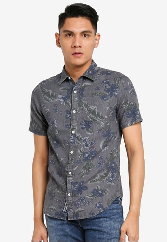 Superdry grey Miami Loom Box Fit Shirt B7220AA881E182GS_1