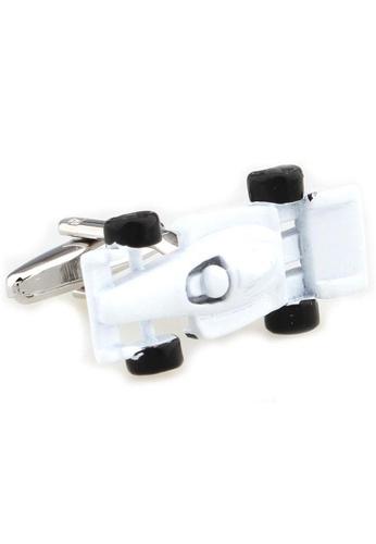 The Little Link Cufflinks white F1 Racer (White) cufflinks TH089AC0G4XBSG_1