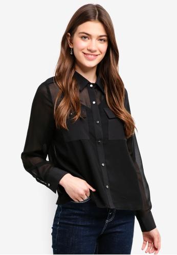 Something Borrowed black 2-In-1 Utility Shirt B26E1AA1EE4427GS_1