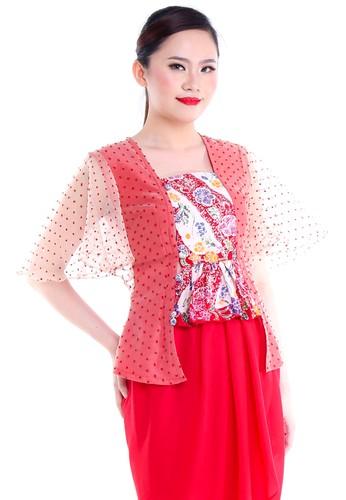 DhieVine Batik red and multi Kemangi Kembang Lereng Kebaya Kutubaru EB90FAA1DC9942GS_1
