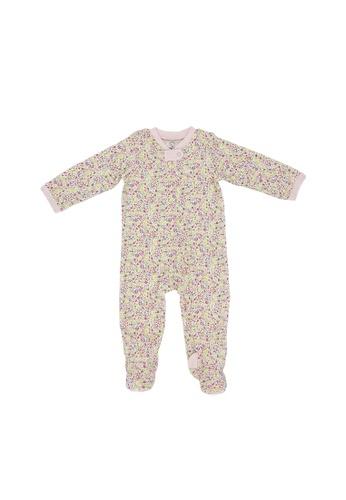 Baby Lovett pink Pink Flora Two-Way Zipper Suit AA74AKA18D4614GS_1