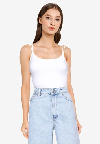 ABERCROMBIE & FITCH white Bare Brami Back Detail Bodysuit FFB98AA286DDE5GS_1