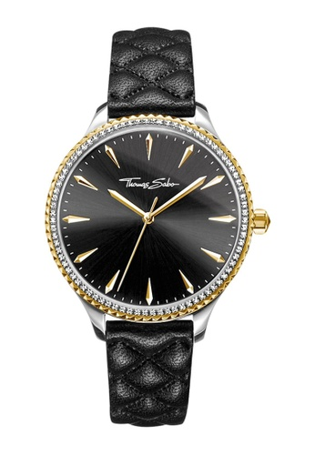 "THOMAS SABO black Women's Watch ""REBEL AT HEART"" 9915FAC8BC3D44GS_1"