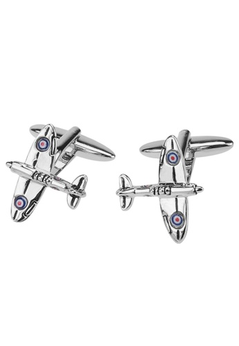 CUFF IT silver Fighter Aircraft Cufflinks 637A5ACC0648F5GS_1
