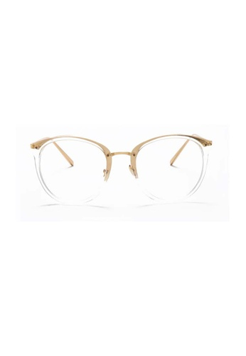Kyfer's Eyewear & Essentials white and gold Oversize Cat Eye Glasses Ver II KY376AC99BMESG_1