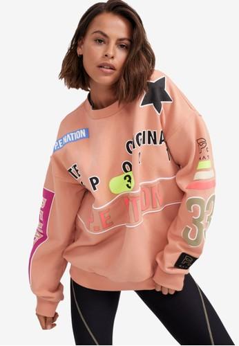 P.E Nation pink Eastbrook Sweater C7E8FAAE1BD99AGS_1