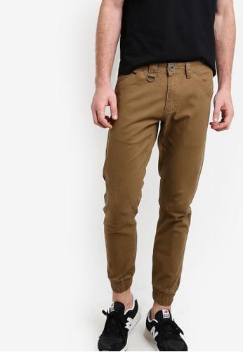 SPARROW GREEN brown Das Jogger Pants SP065AA82BFPMY_1