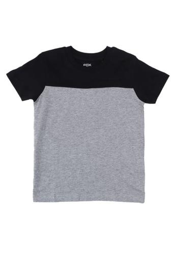 FOX Kids & Baby black Colourblock Short Sleeves T-Shirt 10212KAE3DA18AGS_1