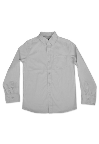 Grizzly white Grizzly Kids Long Sleeves Woven Florence Polo 0A033KAC7720C7GS_1