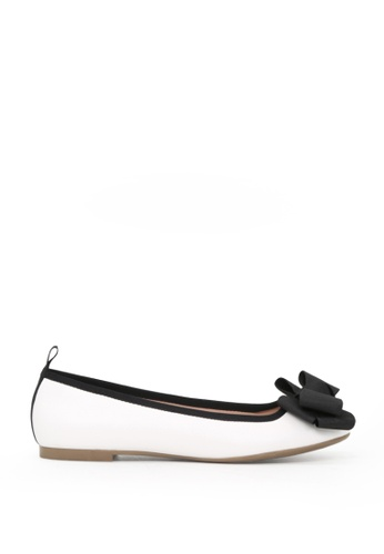London Rag 白色 LONDON RAG 女式白色平底芭蕾舞鞋 D5686SHB062352GS_1