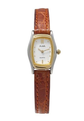Alba brown ALBA Jam Tangan Wanita - Brown Silver Gold - Leather Strap - ARYJ70 26052ACA8F79AEGS_1