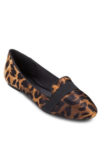 豹紋印花平zalora 衣服尺寸底鞋, 女鞋, 懶人鞋