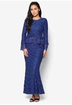 Baju Kurung Moden Peplum Lace - Vercato Sarafina