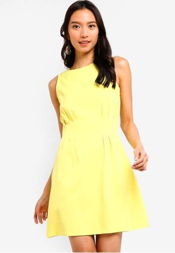 ZALORA 綠色 Pleats Details Dress 587D0AAA73DE8FGS_1