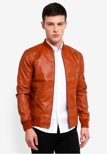 High Cultured 褐色 質感夾克 AF2C1AAF1866FCGS_1