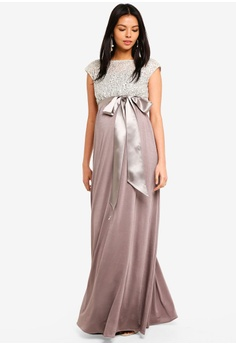 7240531160f Tiffany Rose Maternity Mia Gown RM 1